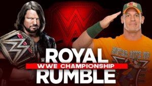 AJ Styles vs John Cena