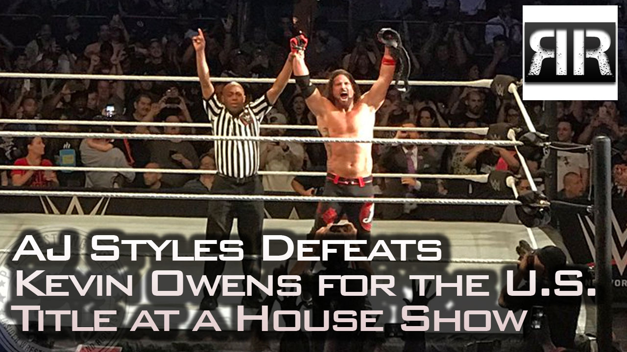 AJ Styles wins the U.S. Title at a house show