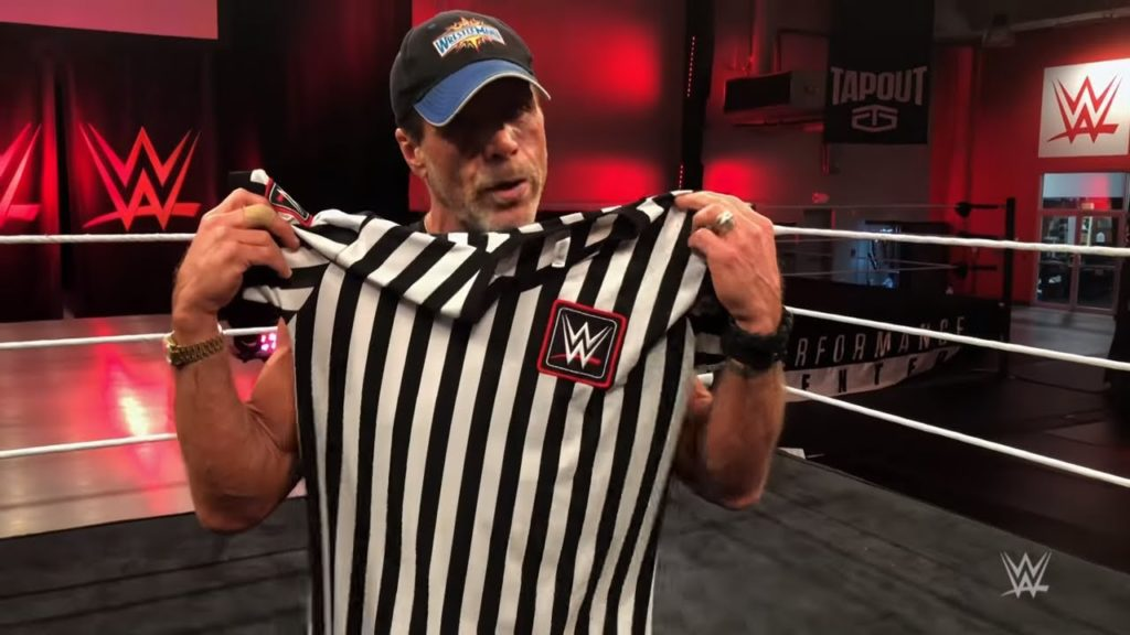 Shawn Michaels as special guest referee at San Antonio NXT show