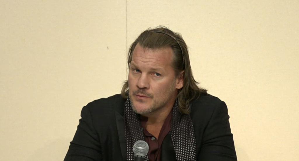 Chris Jericho at the WrestleKingdom 12 press conference